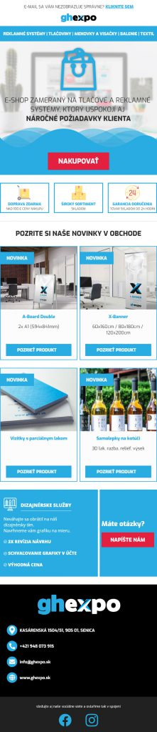 email newsletter template ghexpo