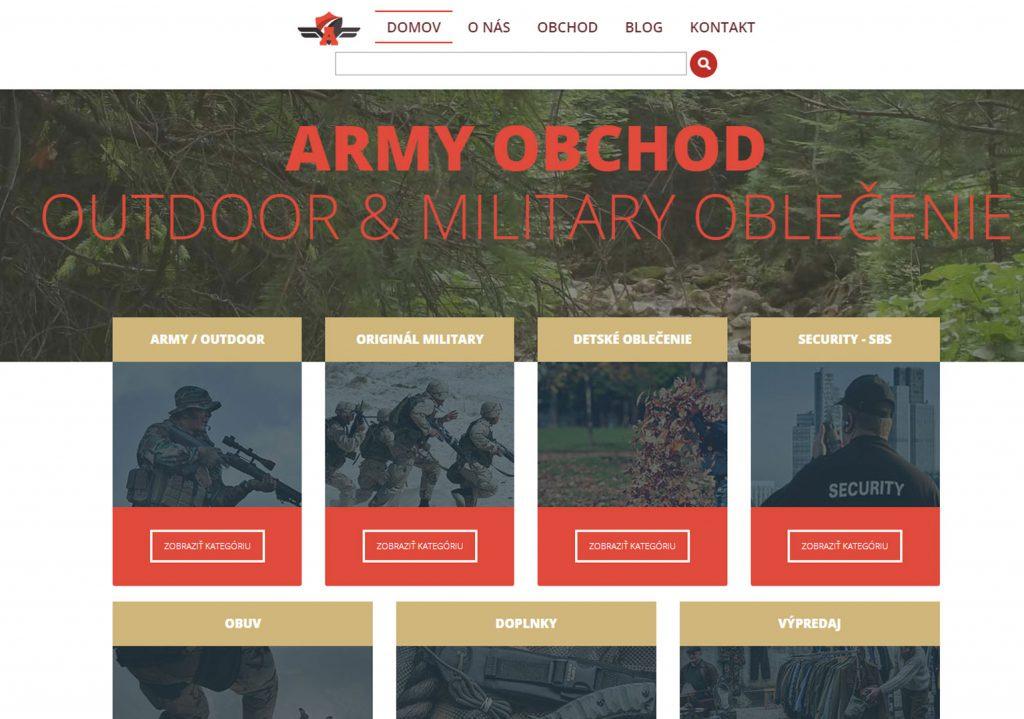 e-shop army a outdoor oblečenie