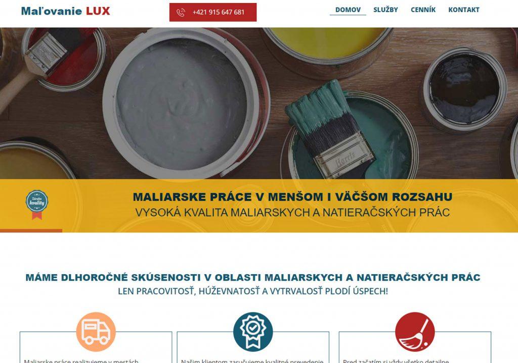 maľovanie lux web