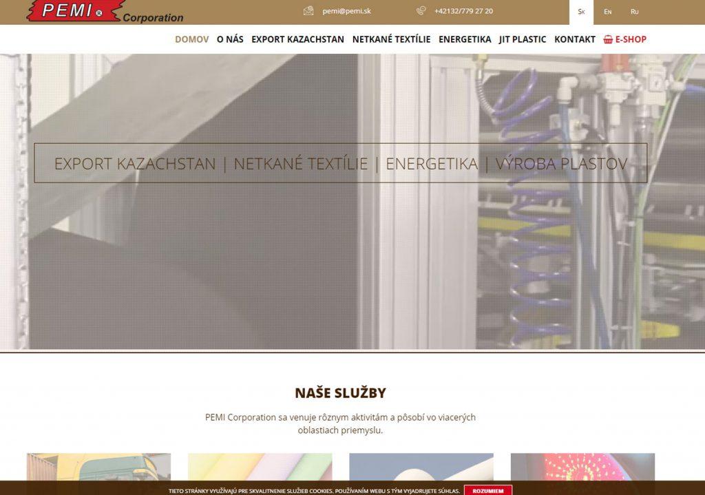 pemi corporation oficiálna stránka